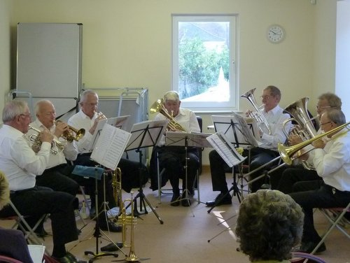 Dorset brass performing to Composers group
